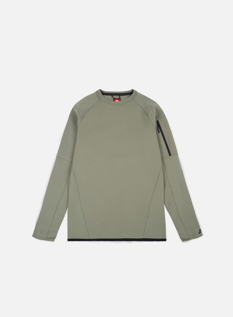 felpe nike tech fleece seasonal crewneck dark stucco black