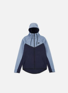 Nike - Tech Fleece Windrunner Hoodie, Aegean Storm Heather/Obsidian/Black