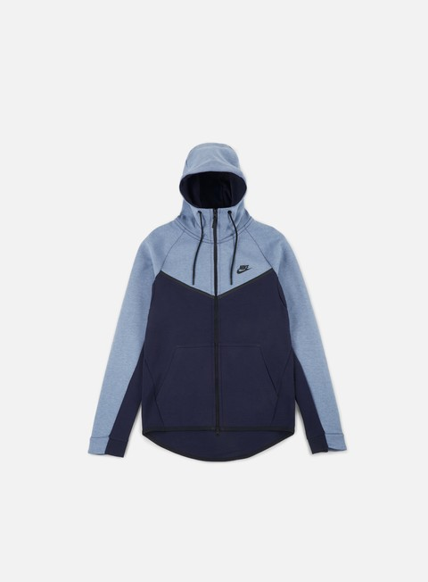 felpe nike tech fleece windrunner hoodie aegean storm heather obsidian black