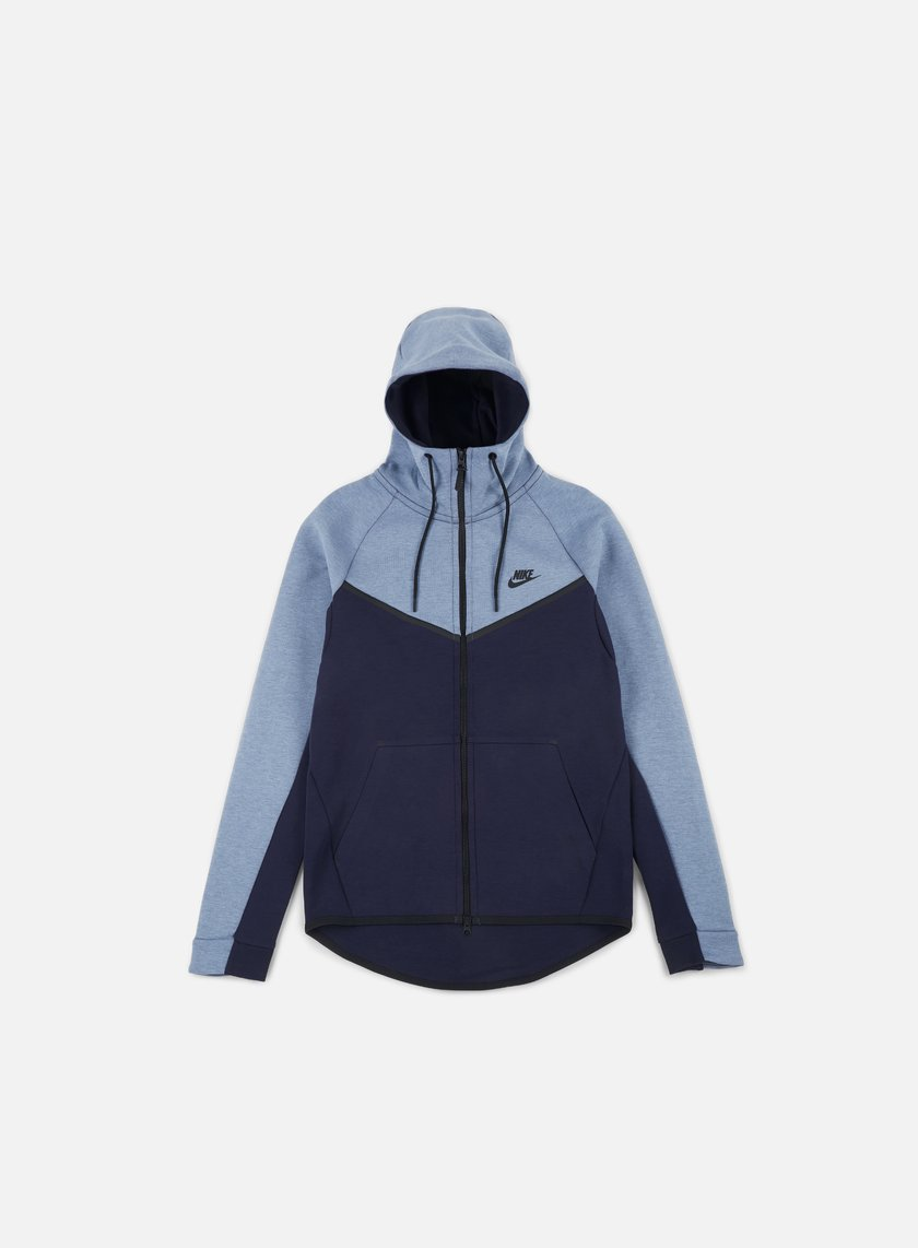 Estadísticas Asesorar recinto  Nike Tech Fleece Windrunner Hoodie Men, Aegean Storm Heather Obsidian Black  | Graffitishop