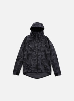 Nike - Tech Fleece Windrunner Hoodie AOP, Anthracite/Black 1