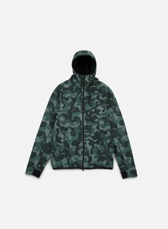 Nike - Tech Fleece Windrunner Hoodie AOP, Hasta/Black