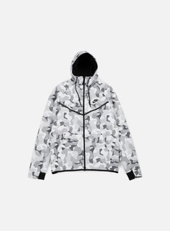 Nike - Tech Fleece Windrunner Hoodie AOP, White/Black