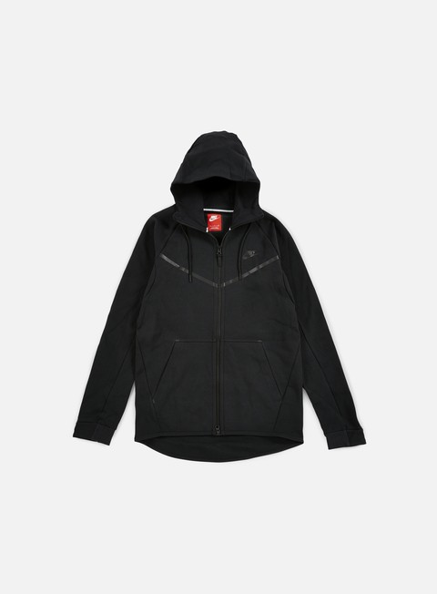 felpe nike tech fleece windrunner hoodie black black