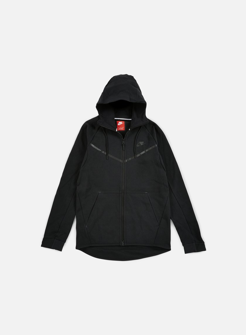 Nike - Tech Fleece Windrunner Hoodie, Black/Black