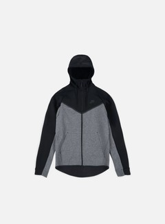 Nike - Tech Fleece Windrunner Hoodie, Black/Charcoal Heather/Black
