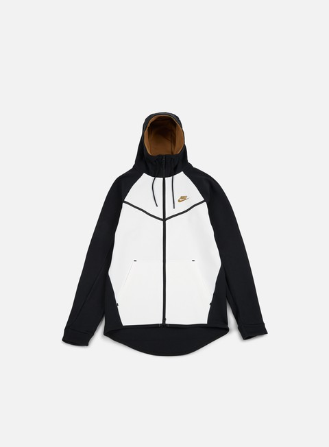 felpe nike tech fleece windrunner hoodie black golden beige