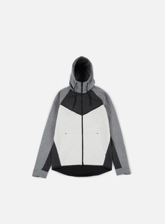 Nike - Tech Fleece Windrunner Hoodie, Black Heather/Black/Carbon Heather