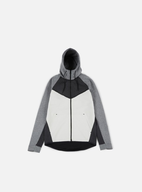 felpe nike tech fleece windrunner hoodie black heather black carbon heather