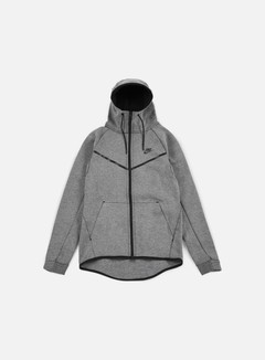 Nike - Tech Fleece Windrunner Hoodie, Carbon Heather/Black