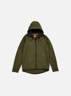Nike - Tech Fleece Windrunner Hoodie, Dark Loden/Black 1