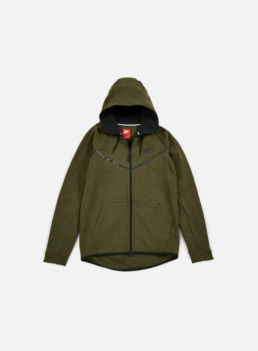 Nike - Tech Fleece Windrunner Hoodie, Dark Loden/Black