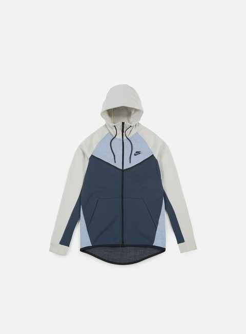felpe nike tech fleece windrunner hoodie glacier grey black