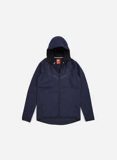 Nike - Tech Fleece Windrunner Hoodie, Obsidian Heather/Black