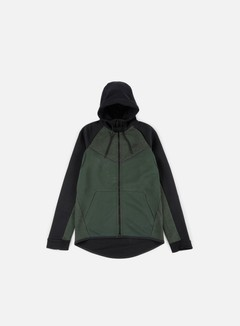 Nike - Tech Fleece Windrunner Hoodie, Outdoor Green/Black/Black Heather