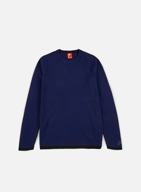 felpe nike tech knit crewneck binary blue
