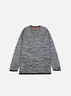 Nike - Tech Knit Crewneck, Carbon Heather/Black