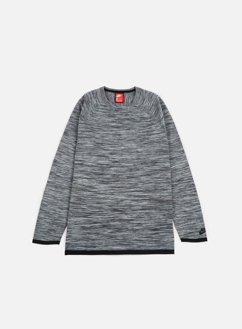 felpe nike tech knit crewneck carbon heather black