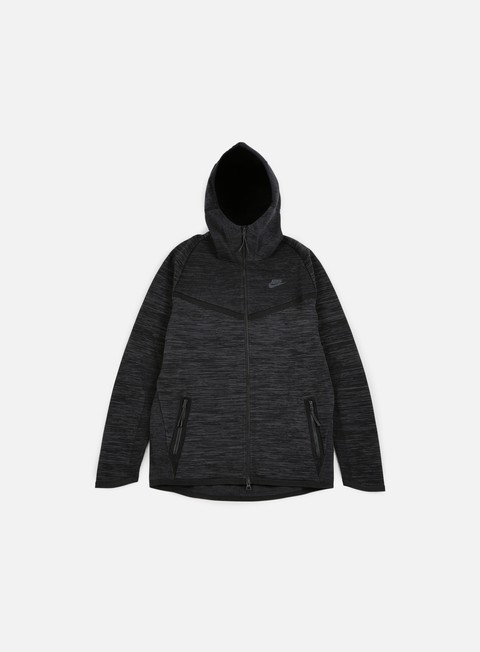 felpe nike tech knit windrunner black anthracite
