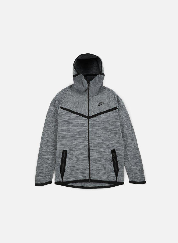 Nike - Tech Knit Windrunner, Cool Grey/Black