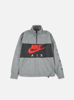 Nike - Top Air Half Zip Fleece, Carbon Heather/Anthracite