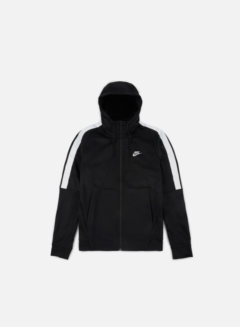 felpe nike tribute full zip hoodie black white