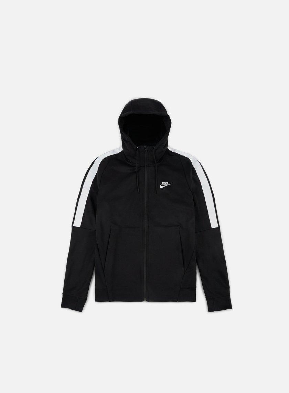 Nike - Tribute Full Zip Hoodie, Black/White