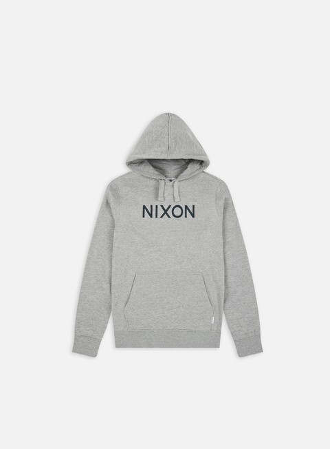 felpe nixon neptune pullover hoodie heather grey
