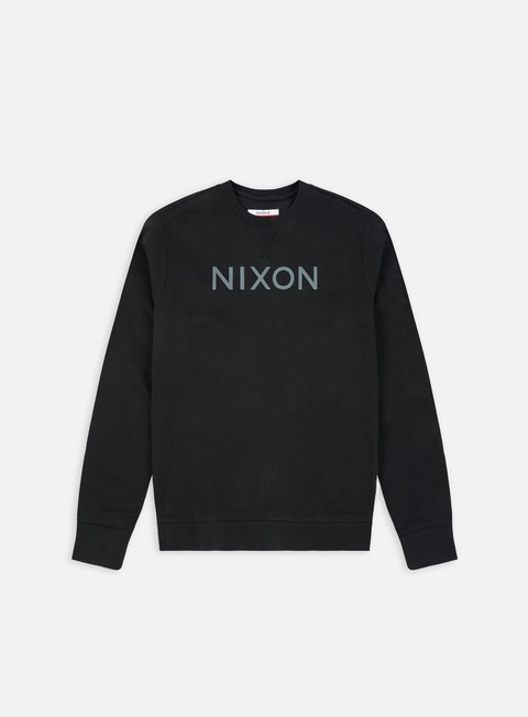 felpe nixon summit crewneck black