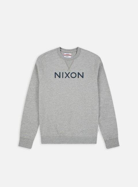 felpe nixon summit crewneck heather grey