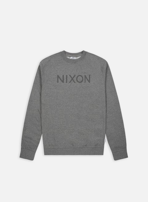 felpe nixon wordmark crewneck dark heather