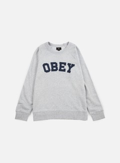 Obey - Academy Crewneck, Athletic Heather Grey 1