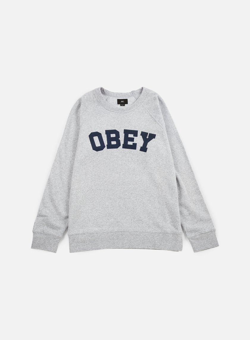 Obey - Academy Crewneck, Athletic Heather Grey