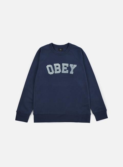 felpe obey academy crewneck navy