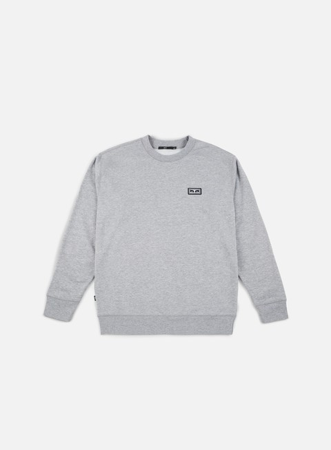 felpe obey all eyez crewneck heather grey