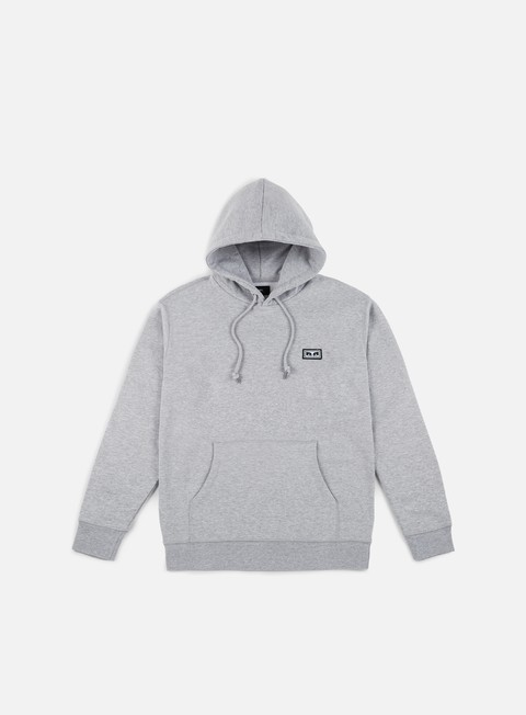 felpe obey all eyez hoodie heather grey