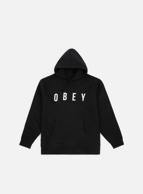 felpe obey anyway hoodie black