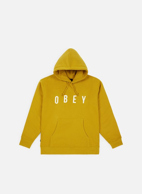 felpe obey anyway hoodie golden olive