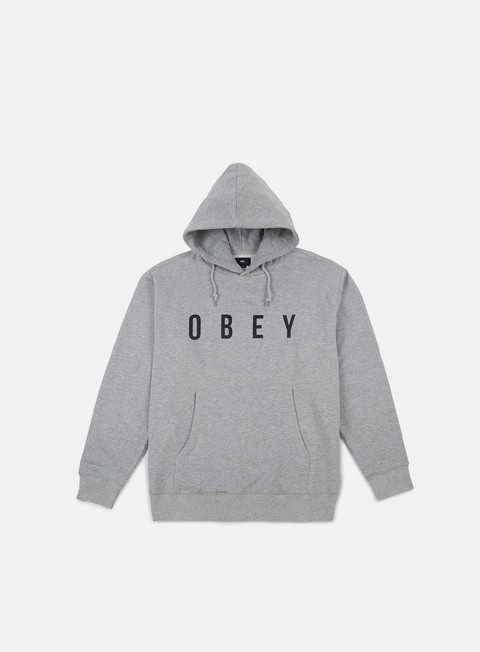 felpe obey anyway hoodie heather grey