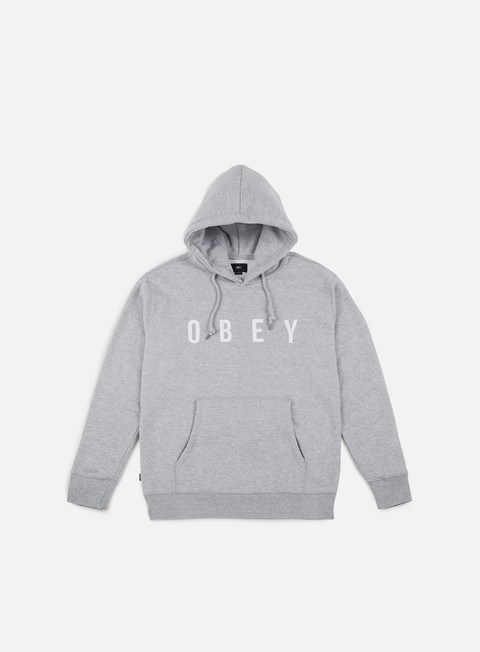 felpe obey anyway hoodie heather grey white