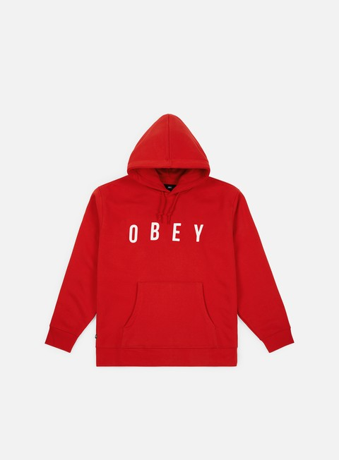 felpe obey anyway hoodie hot red
