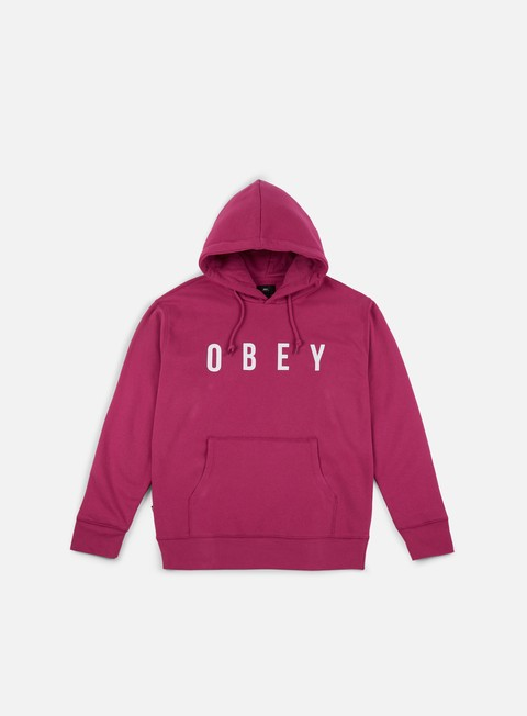 felpe obey anyway hoodie magenta white