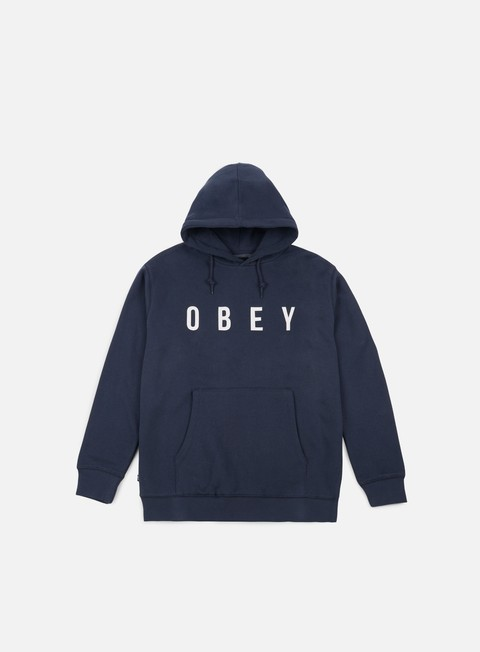 felpe obey anyway hoodie navy