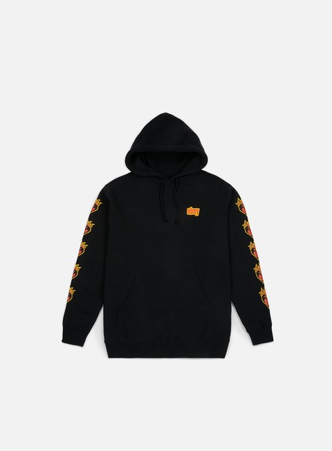 felpe obey be mine hoodie black