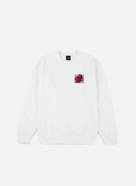 felpe obey big boy pant crewneck white