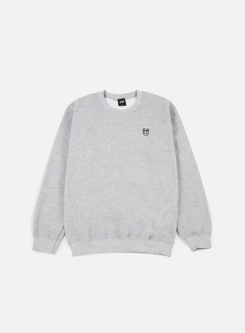 felpe obey box creeper crewneck athletic heather grey