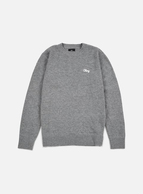 felpe obey camden sweater heather grey