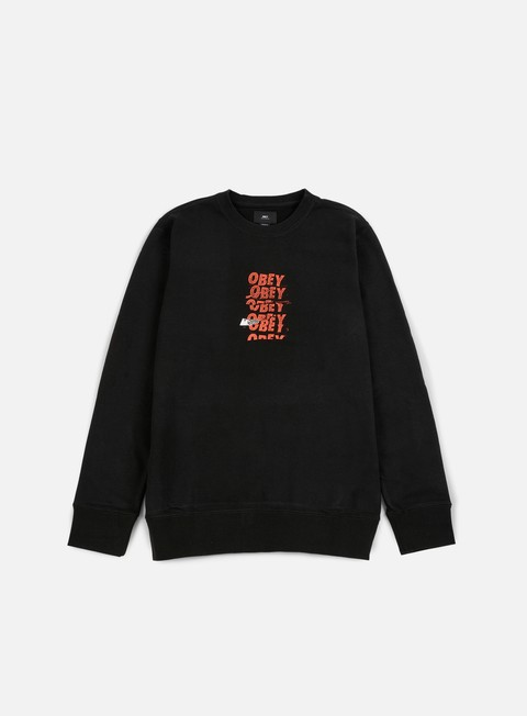 felpe obey can t help you crewneck black