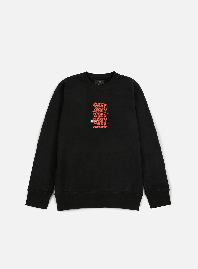Obey - Can't Help You Crewneck, Black