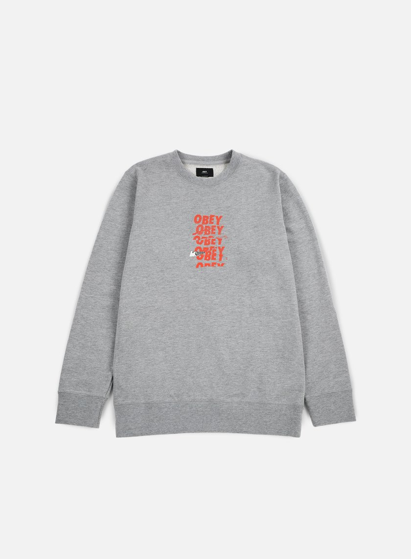Obey - Can't Help You Crewneck, Heather Grey